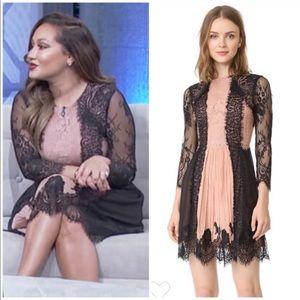 "Alice & Olivia ""Kaylen"" mixed lace dress 0"